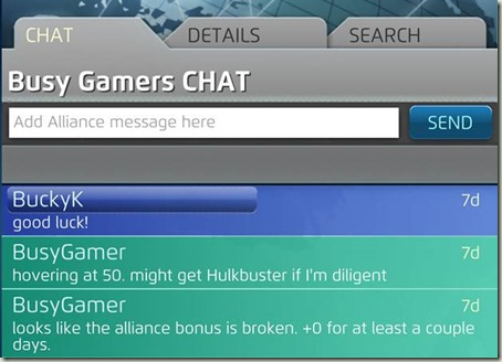 Alliance chat