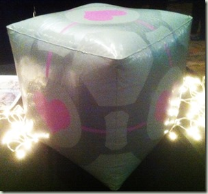Inflatable Companion Cube prototype