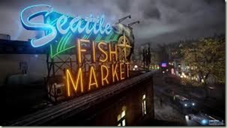Seattle Fish Market in Second Son